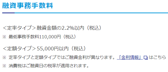 フラット35(買取型)融資事務手数料