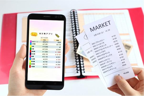 家計簿アプリとレシート
