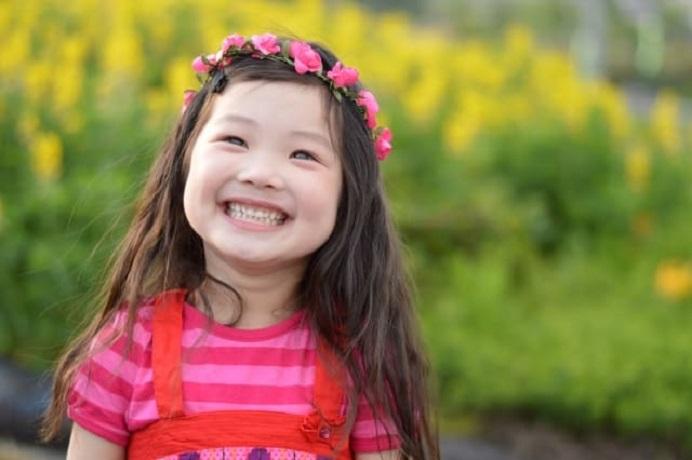 笑顔満面の女の子